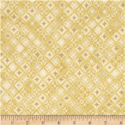 Kaufman Winter's Grandeur 4 Metallics Diamond Grid Natural