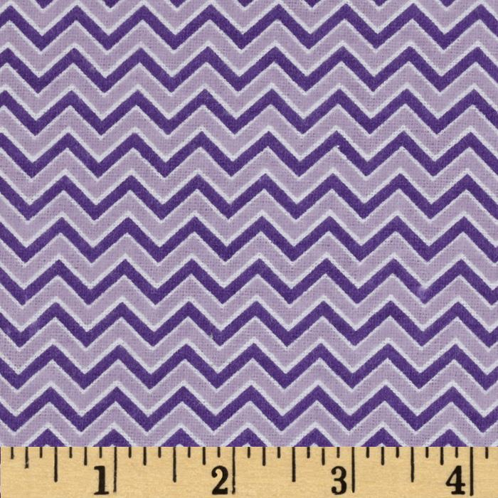 Alpine Flannel Basics Chevron Lavender