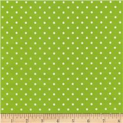 Timeless Treasures Polka Dots Lime Fabric