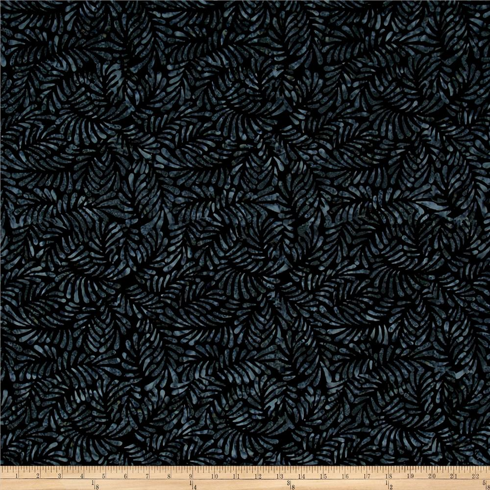 Wilmington Batiks Feathers Black
