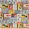 Seven Islands Marine Canvas Patchwork Blue