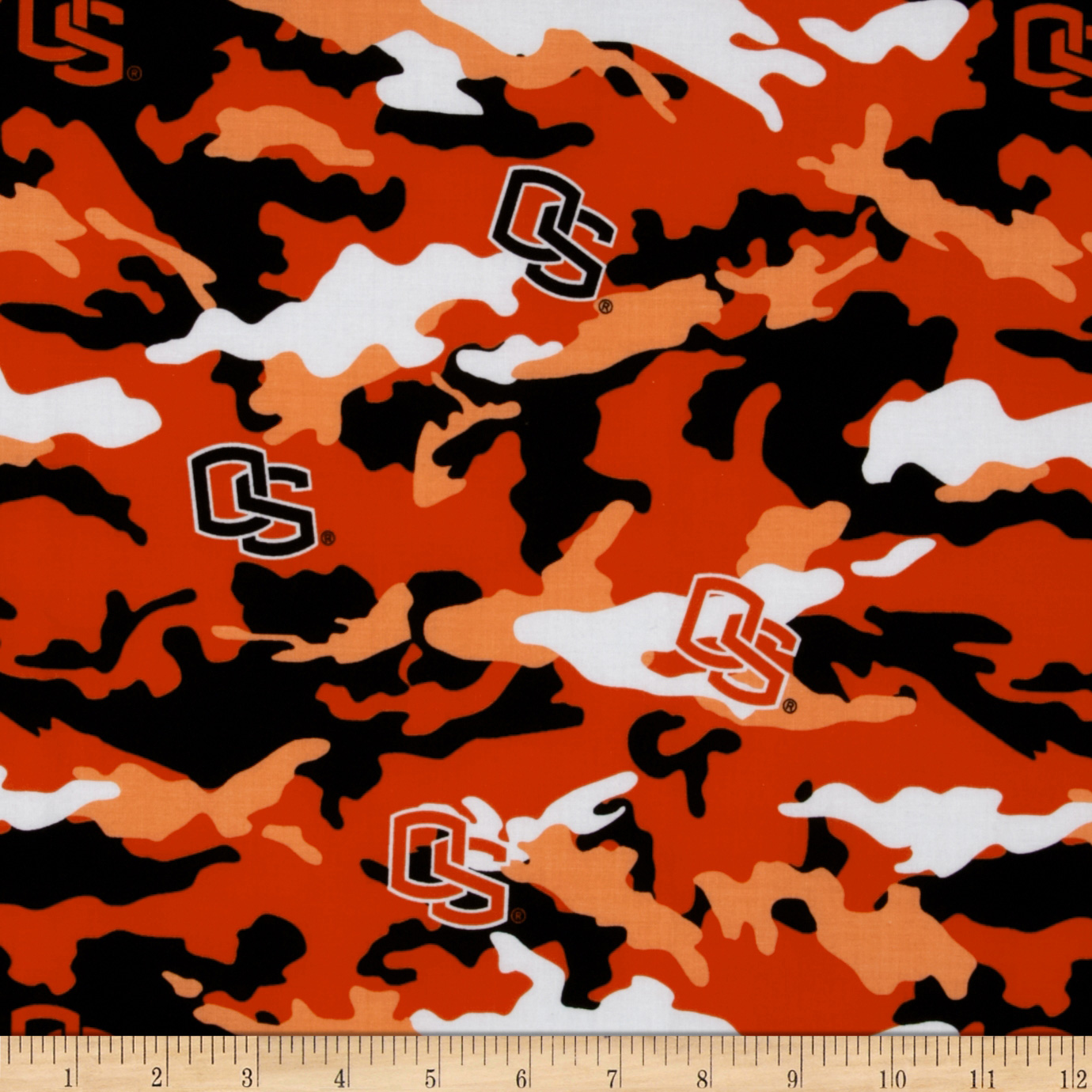 Collegiate Cotton Broadcloth Oregon State University Camouflage