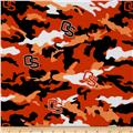 Collegiate Cotton Broadcloth Oregon State University Camouflage Orange