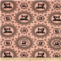Thimble Pleasures Sewing Damask Pink
