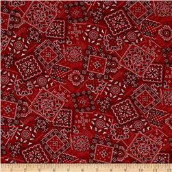 Kaufman Sevenberry Bandana Patch Red