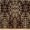 Quilted Knit Cheetah Black/Brown/Khaki