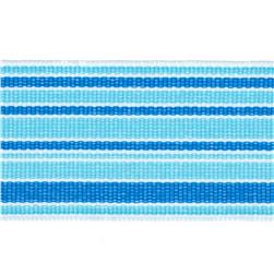 1 1/2'' Grosgrain Stripes Blue/Turquoise/White