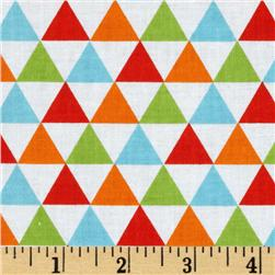 Remix Triangles Bermuda Orange Fabric