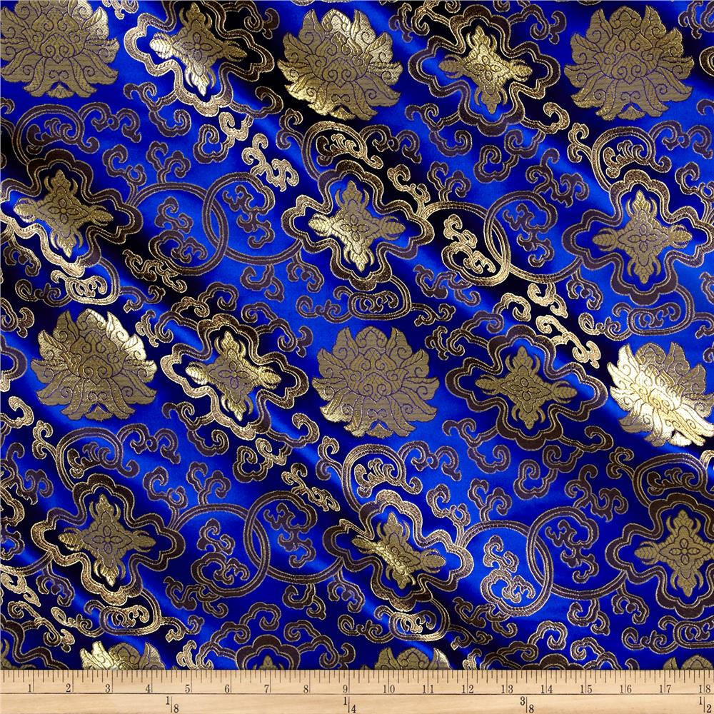 Chinese Brocade Sateen Royal