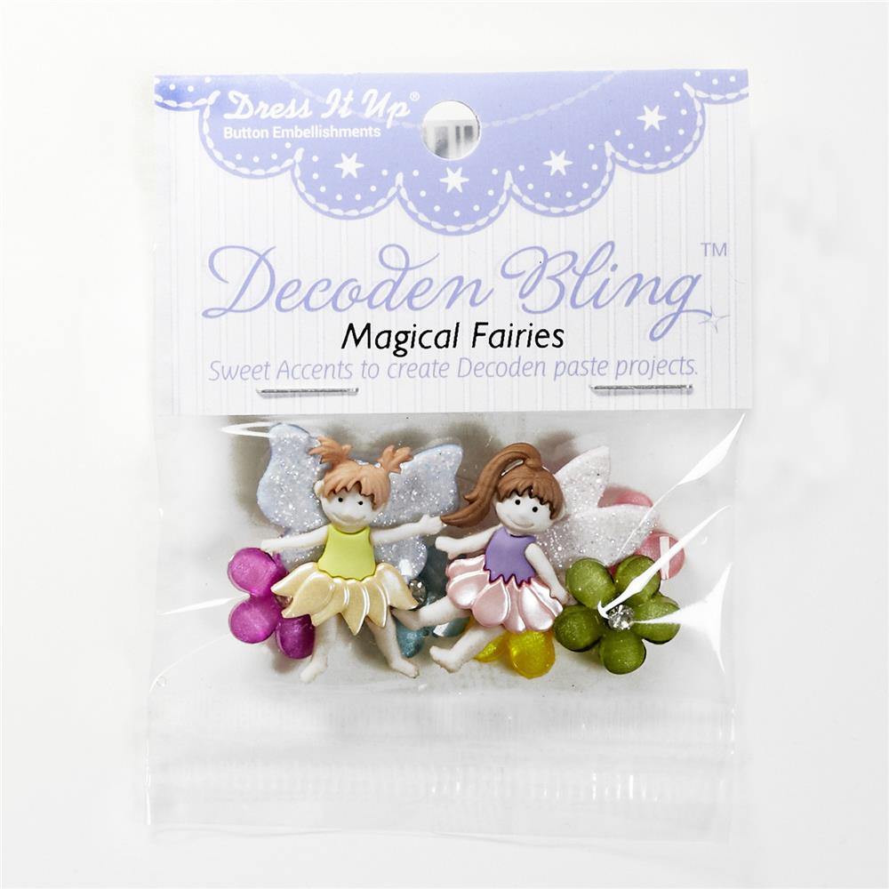 Dress It Up Embellishment Buttons Magical Fairies