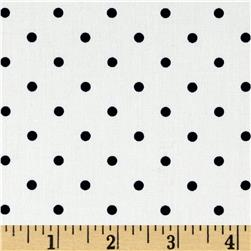 Morocco Blues Stretch Cotton Shirting Small Polka Dots Navy White