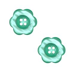 "Riley Blake Sew Together 2"" Flower Button Teal"