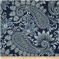 Richloom Navodari Paisley Denim Blue