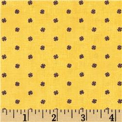 Letters Home Inkwell Dot Yellow Fabric
