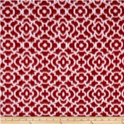 Plaids and Prints Bella Trellis Fleece Red