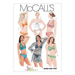 McCall's Misses' Two- Piece Bathing Suit and Cover-Up Pattern M5400 Size AX5