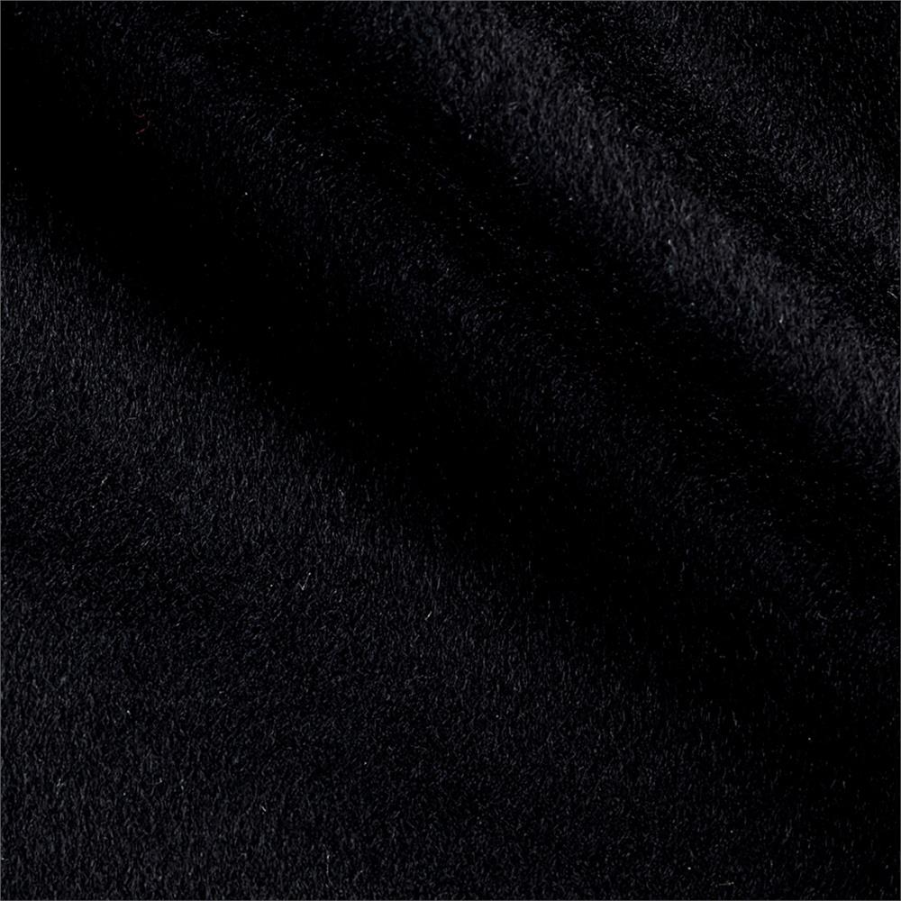 Luxury Wool Cashmere Melton Black