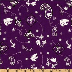 Collegiate Cotton Broadcloth Kansas State University Bandana Purple