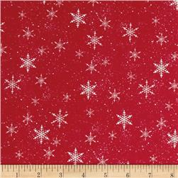 Santa Paws Snowflake Red