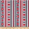 Kanvas Knitty Kitty Sweater Stripe Red