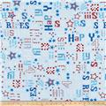 Kanvas Star Spangled Patriotic Words Sky Blue