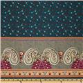 Cotton Voile Paisley Teal/Red/Green/Orange