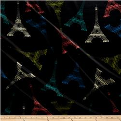 Techno Scuba Knit Eiffel Tower Multi