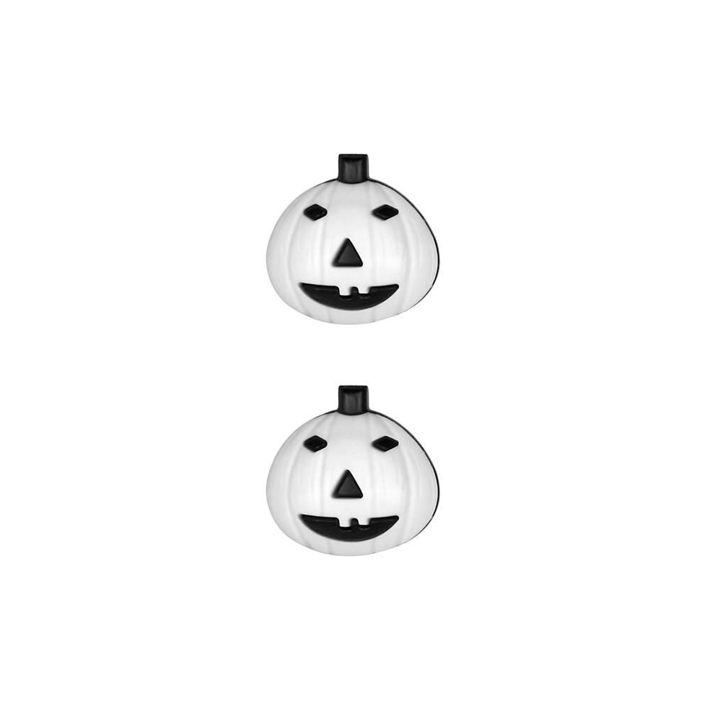 Dill Novelty Button 11/16'' Pumpkin White