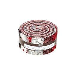 Robert Kaufman Holiday Flourish Silver 2.5 In. Jelly Roll Multi