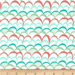 Moda Coral Queen Of The Sea Waves Galore White-Multi