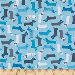 Kaufman Urban Zoology Minis Little Weenie Dogs Aqua