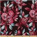 Illusions Chiffon Large Floral  Brown/Violet