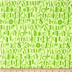 Flannel ABCs Tonal Green
