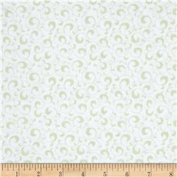 Symphony Rose Scroll Light Green Fabric