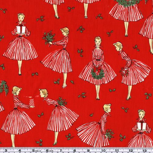 Michael Miller Holiday Hostess Red
