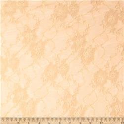 Stretch Nylon Lace Tan