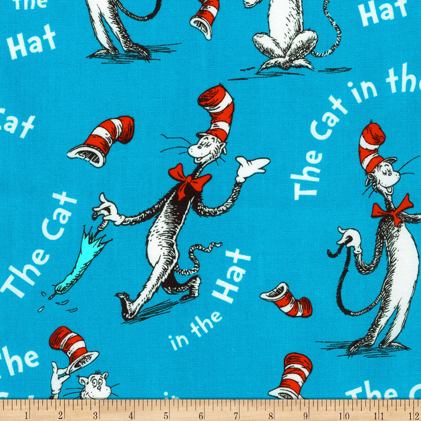 Kaufman The Cat In The Hat Words Celebration Fabric