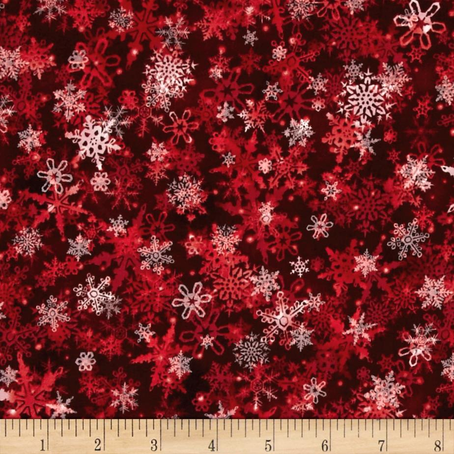 Holiday Accents Classics 2016 Falling Snow Red
