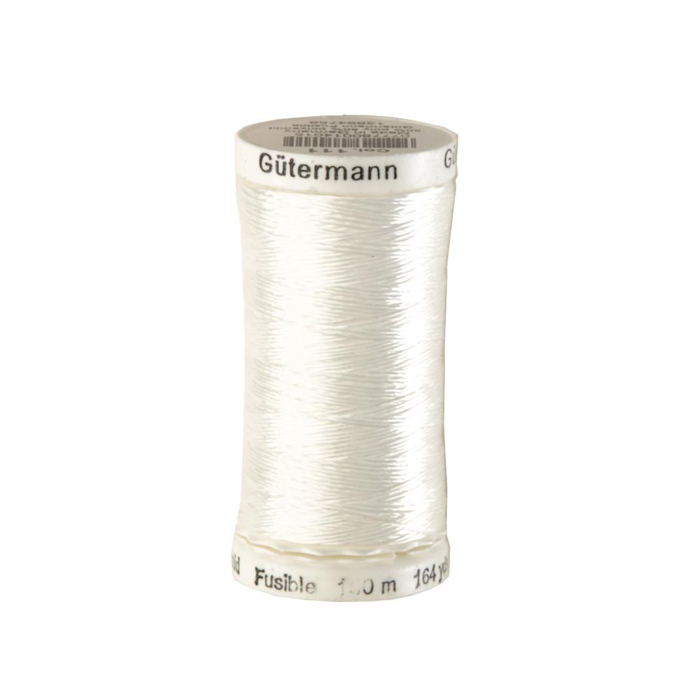 Gutermann Polyester/Nylon Fusible Thread 150m/164yds White