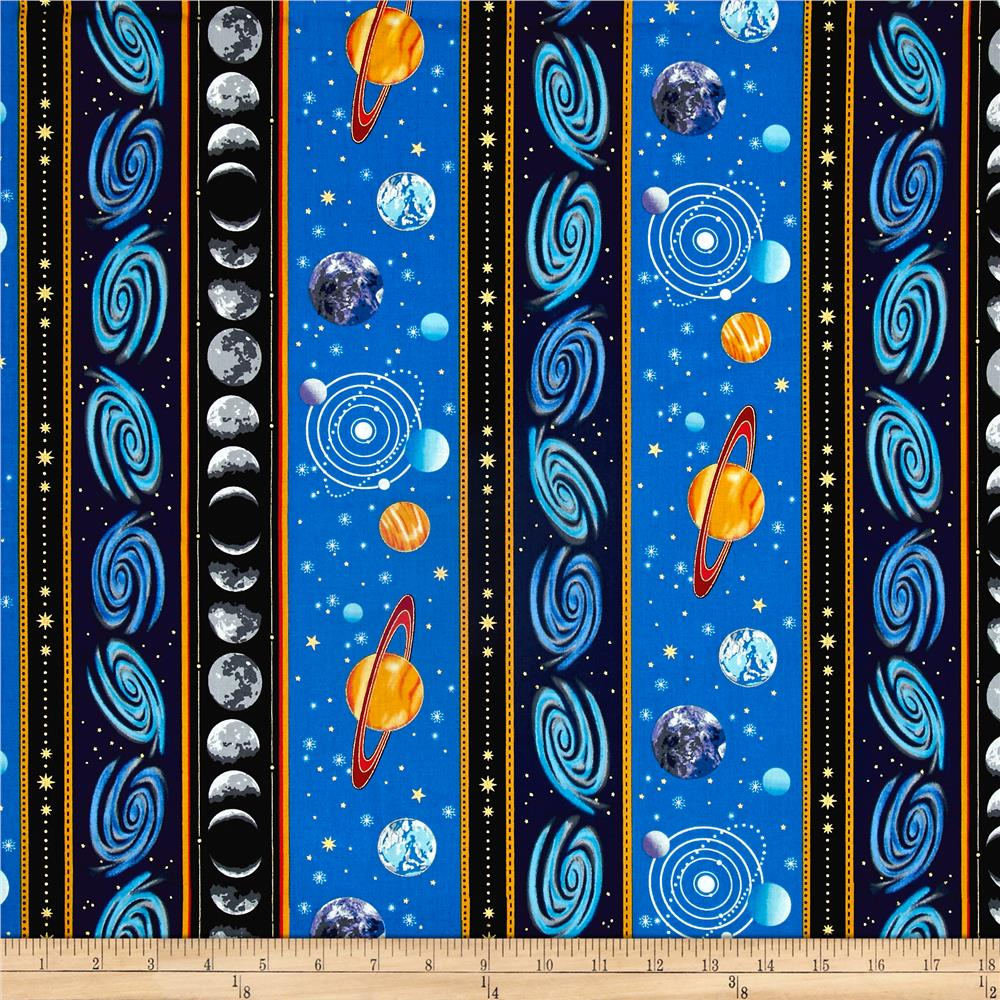 Outer space discount designer fabric for Solar system fabric panel