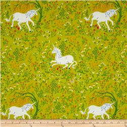 Heather Ross Far Far Away Unicorn Green
