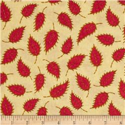 Floral Fancies Leaf Oatmeal/Red