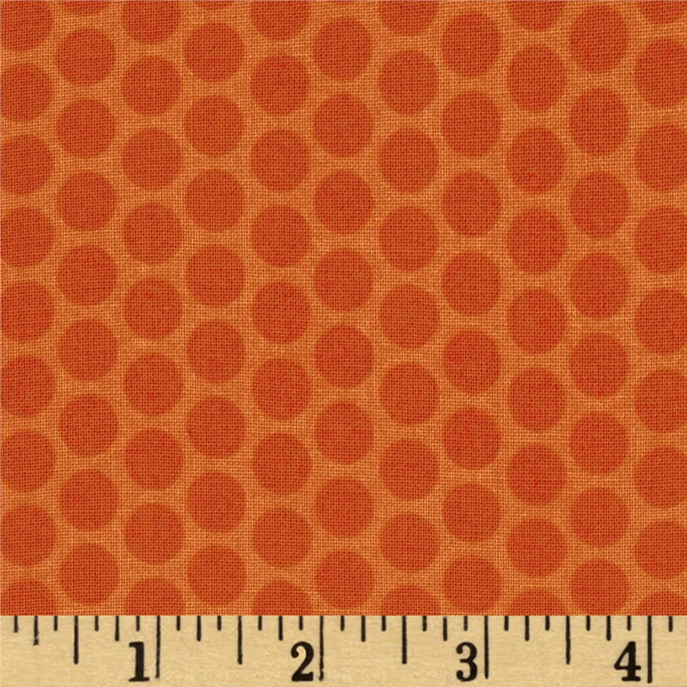 Riley Blake Honeycomb Dot Tone on Tone Orange