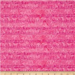 Joyful Medley Musical Notes Pink