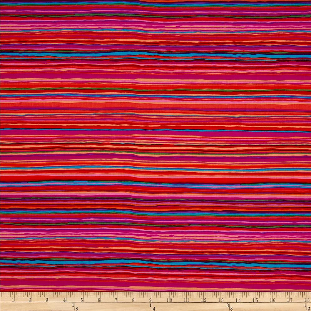 Kaffe Fassett Collective Strata Red