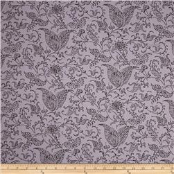Cotton Lawn Print Paisley Cool Grey/Charcoal