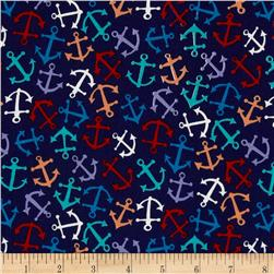 American Coast Anchors Away Tossed Anchors Navy