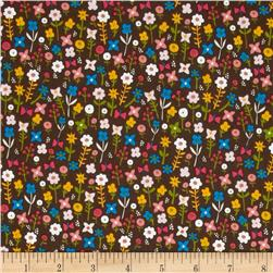 Village Green Small Floral Brown