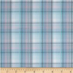 Yarn Dyed Plaid Shirting Blue/Pink/Grey