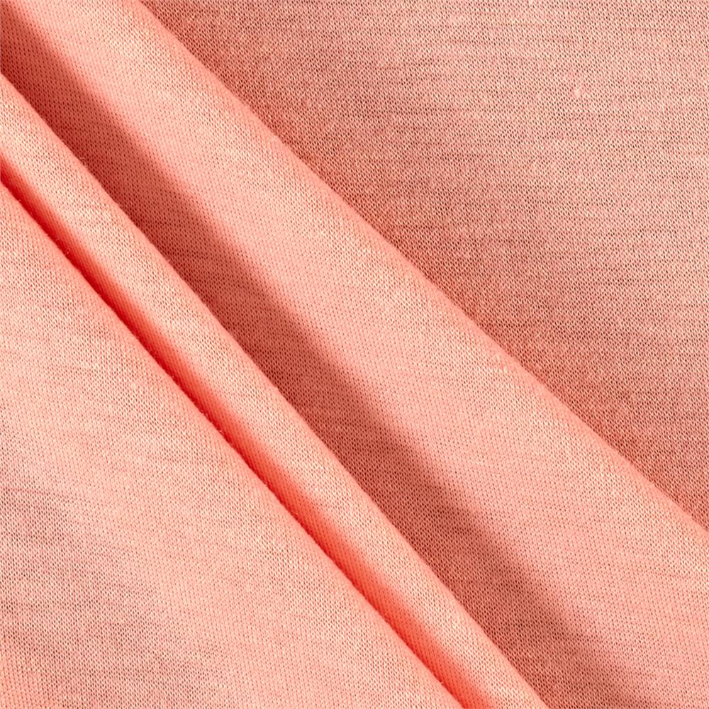 Polyester Jersey Knit Solid Peach